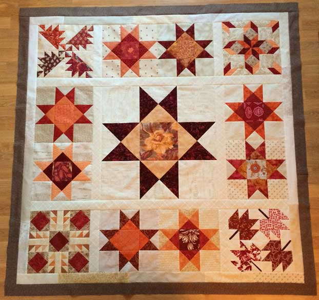 I completed the Ohio Star quilt top in December 2016