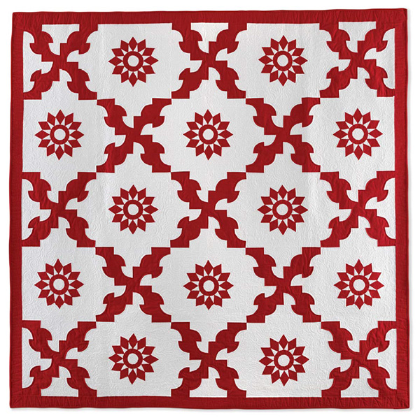 Drinking Party Quilt from <em>Red & White Quilting.</em>