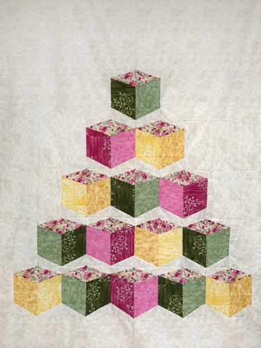 Check out the blog post about my quilt and download the FREE Tumbling Tiles pattern.