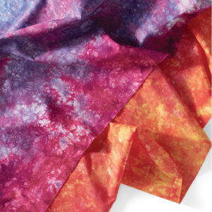 Mulitcolor fabric hand dyed by Candy  Glendening