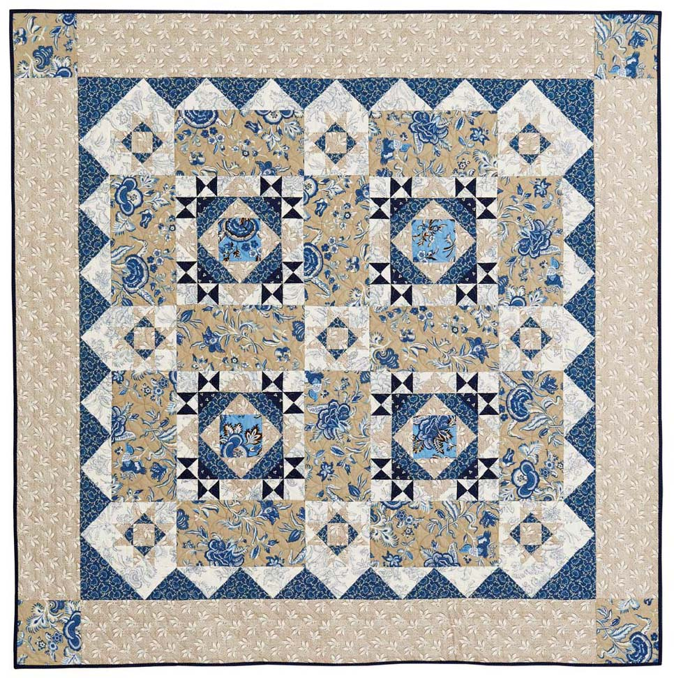 Berry Blue Chic Throw The Quilting Company
