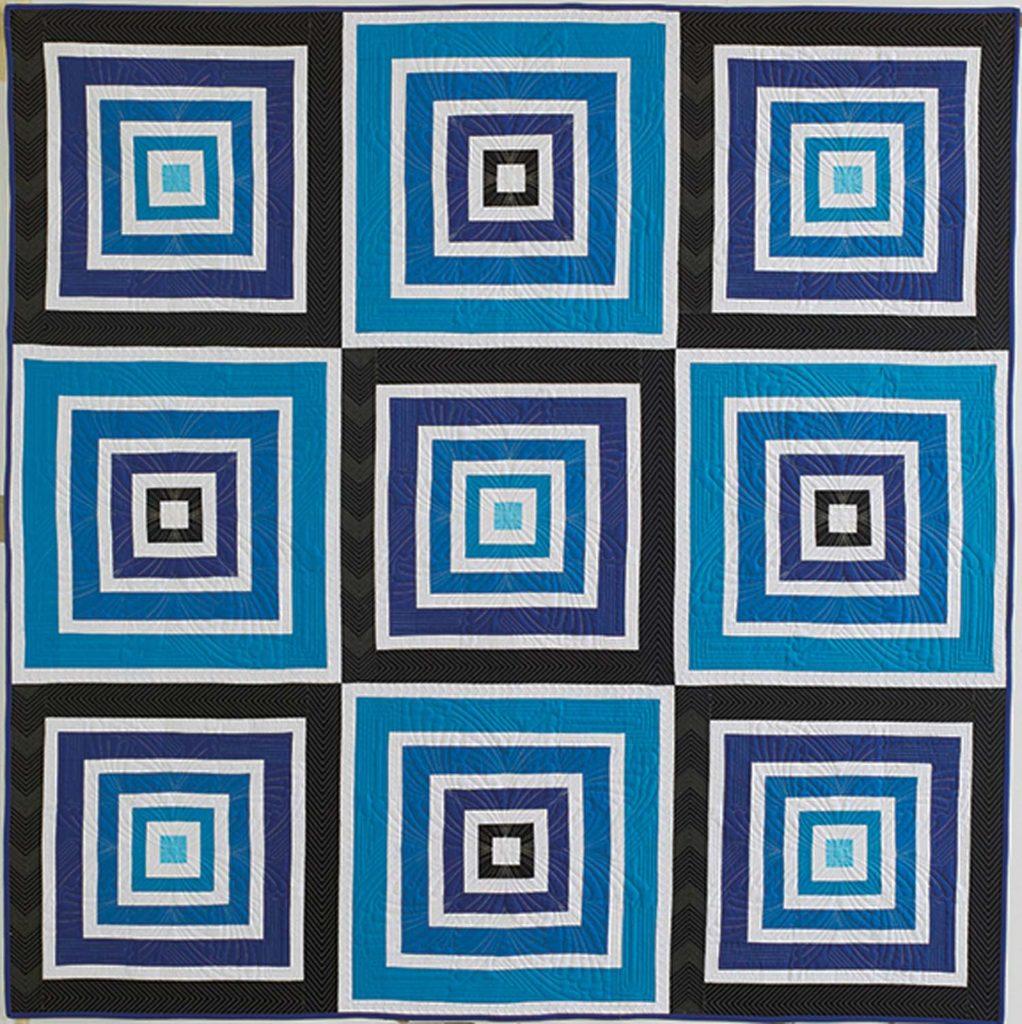 """Blues Traveler by Kelli Fannin, 72"""" x 72"""""""