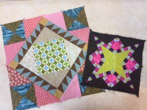 The big stitch of my blocks to quilt.