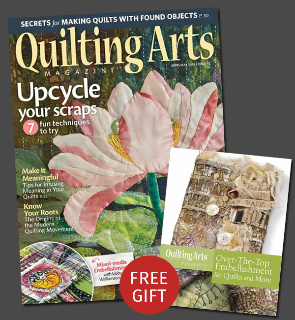 Quilting Arts Magazine Subscription with Free Gift