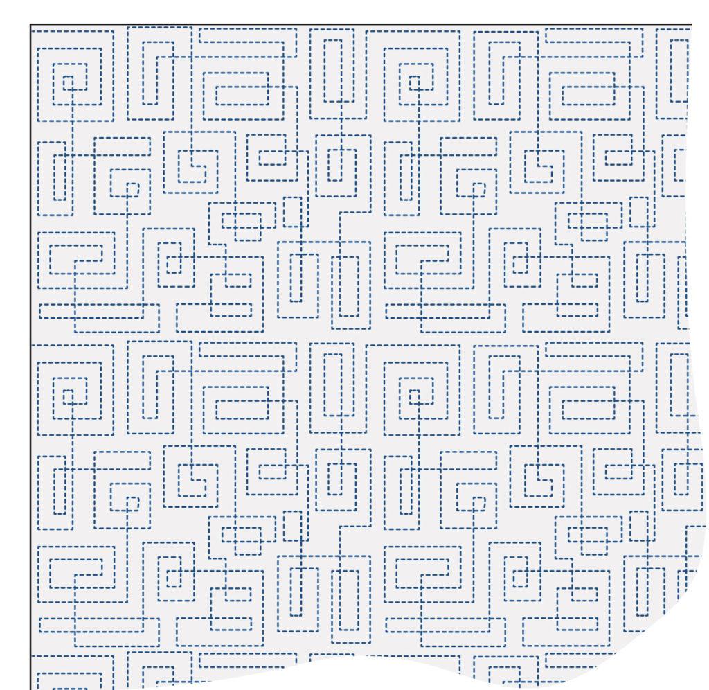 machine-quilting-walking-foot-Interlocking-Squares-Quilting