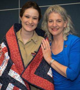 Quilts of Valor Marianne_Fons_at_QOV_Award