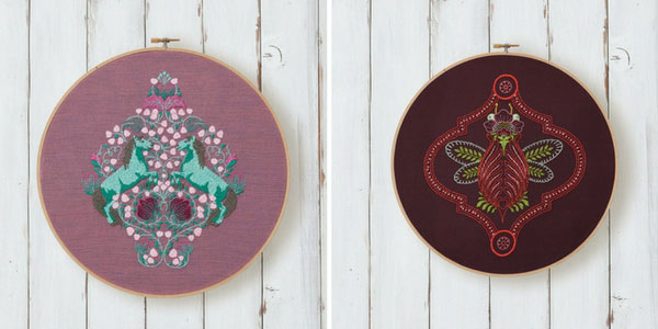 Two embroideries from Coloring with Thread