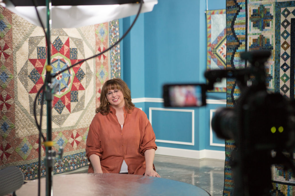 Jenny Kae Parks on the set of the Morris Star video series