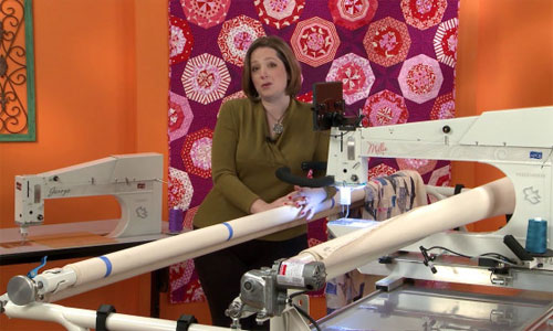 Long Arm Quilting - How to Load a Quilt onto a Longarm Video