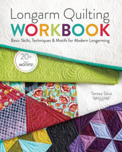 Cover of the quilting book Longarm Quilting Workbook by Teresa Silva