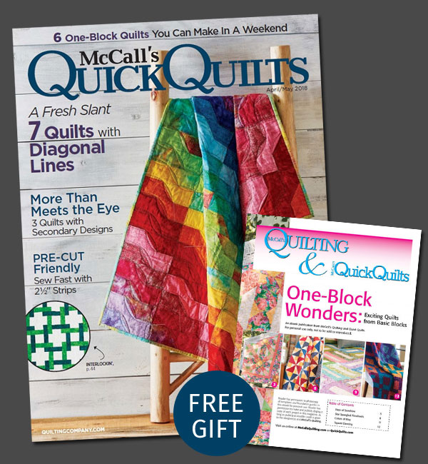 Quick Quilts Magazine - One Year Print Subscription