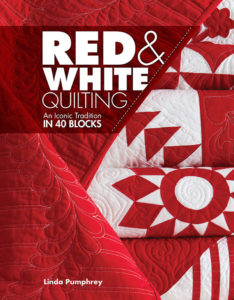 Cover of the quilting book Red & White Quilts by Linda Pumphrey