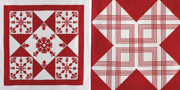 Two quilts featured in Red & White Quilting