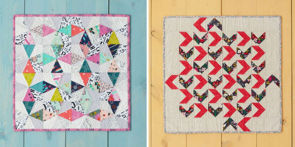 Two of the quilts featured in Weekend Quilting