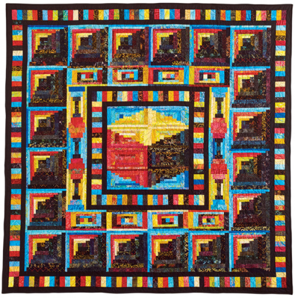 Anniversary Gift Log Cabin Quilt