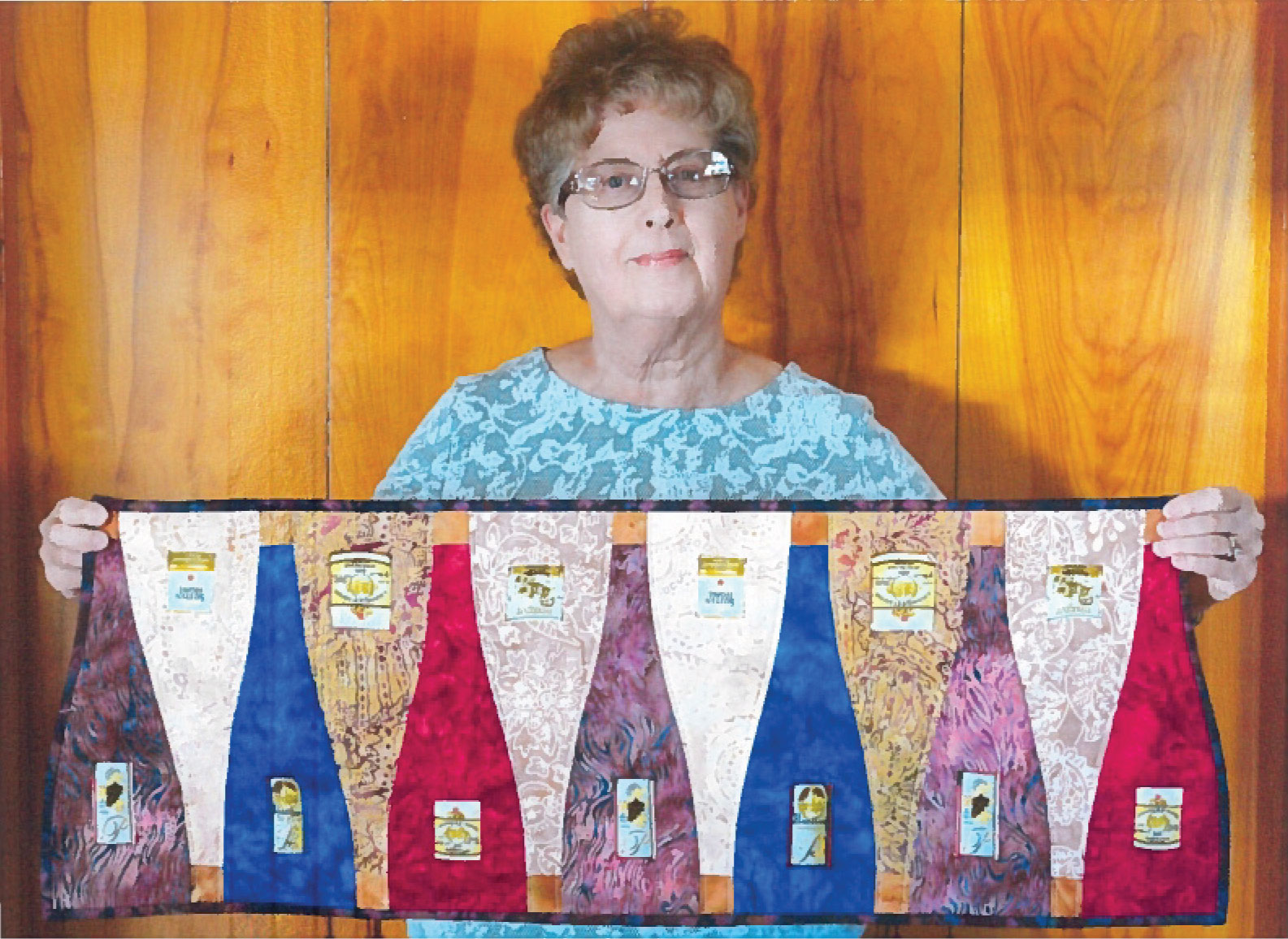 Ruth Martineau with her version of Vino Row, from McCall's Quilting May/June 2017