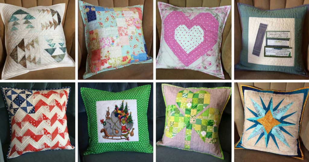"My collection of seasonal 16"" pillow shams, 2015–2017"