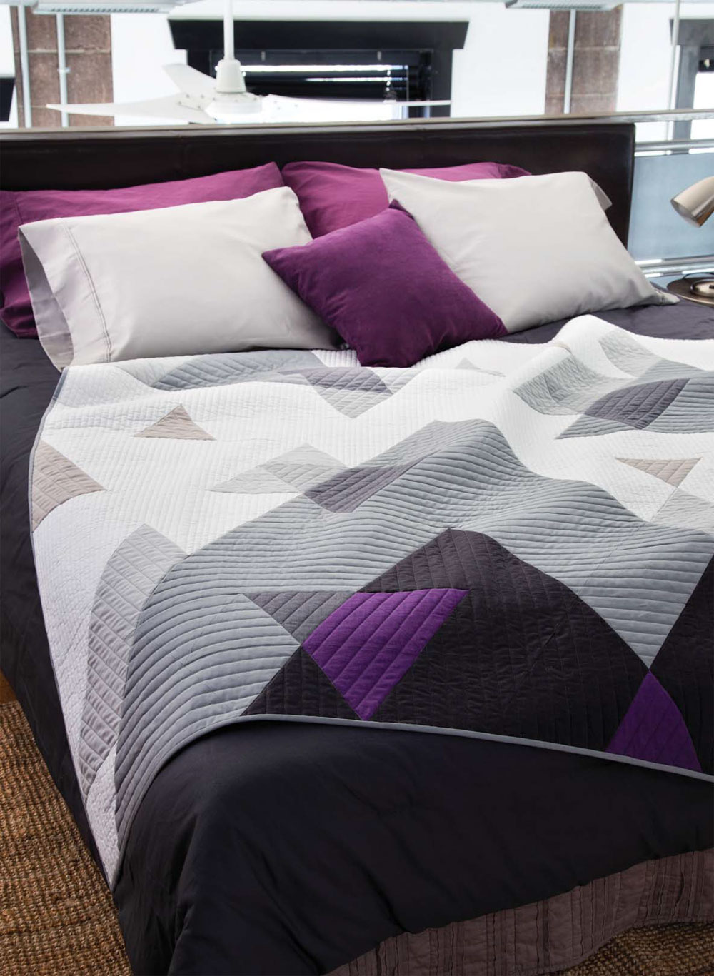 Explore transparency in Mountain Joy, the modern quilt designed by Kate Colleran