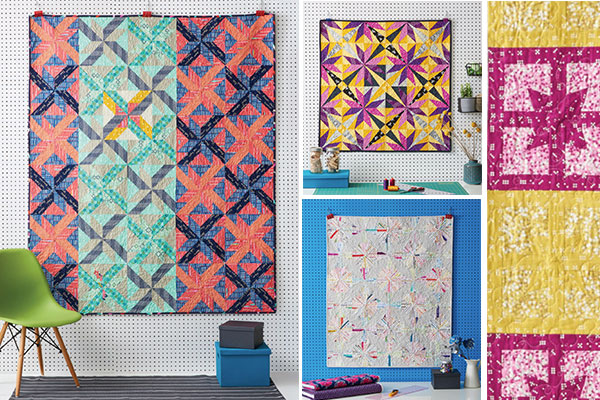 Inspiring quilts made with paper-pieced patterns from The Quilters Paper-Piecing Workbook