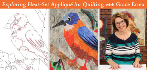Applique Quilting - Exploring Heat-Set Appliqué for Quilting