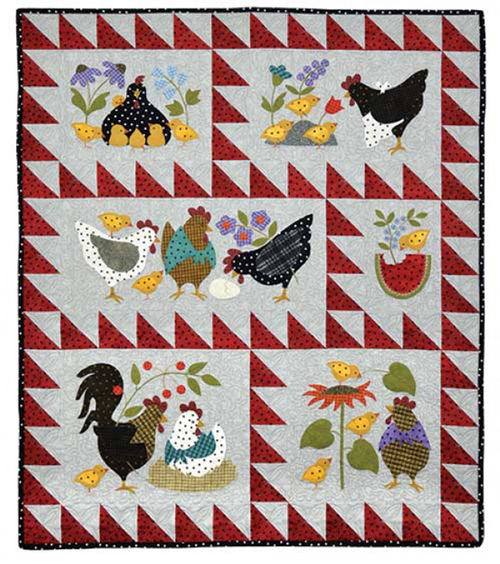 Applique Quilting - Here A Chick, There A Chick Quilt Kit