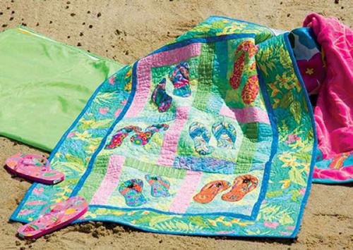 Applique Quilting - Flip Flops in Paradise Quilt Pattern Download