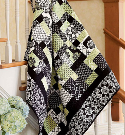 Quilting Quickly Magazine - Dressed to the Nines Quilt Pattern Download