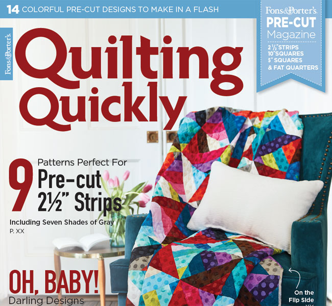 Quilting Quickly Magazine - July/August 2018 Issue