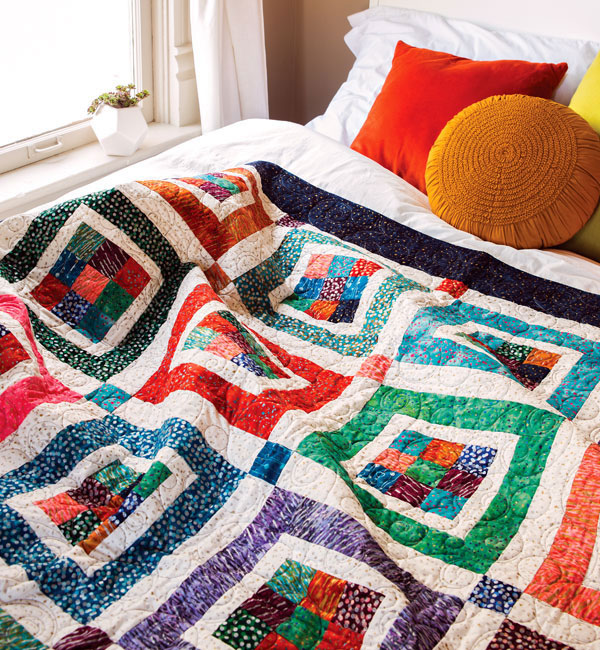 Quilting Quickly Magazine -Mary Jane's Nine-Patch Quilt Kit
