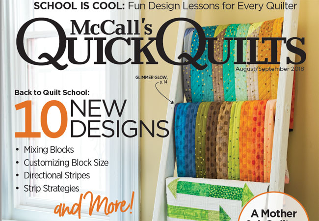 McCall's Quick Quilts Magazine - September/October 2018 Issue