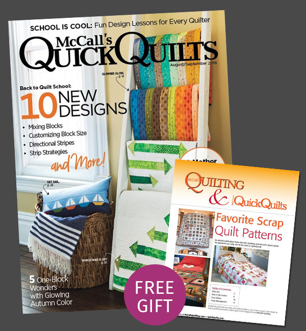 McCall's Quick Quilts Magazine Subscription for July Promotion
