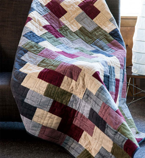 Quilty Magazine - Flannel Brick Road Quilt Pattern Download