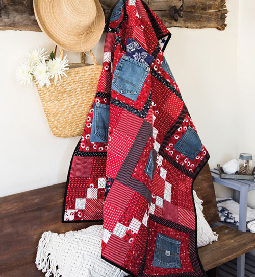 McCall's Quick Quilts Magazine - Ten Pockets Quilt Pattern Download