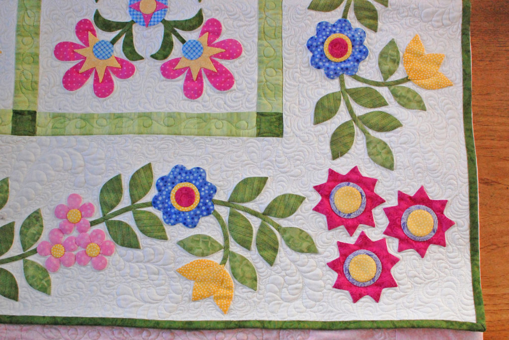 Hand stitching applique borders