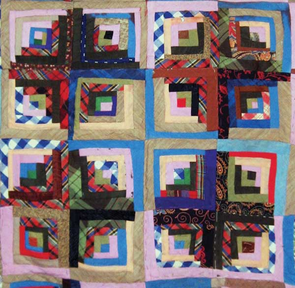 Log Cabin Quilts - an unfinished log cabin