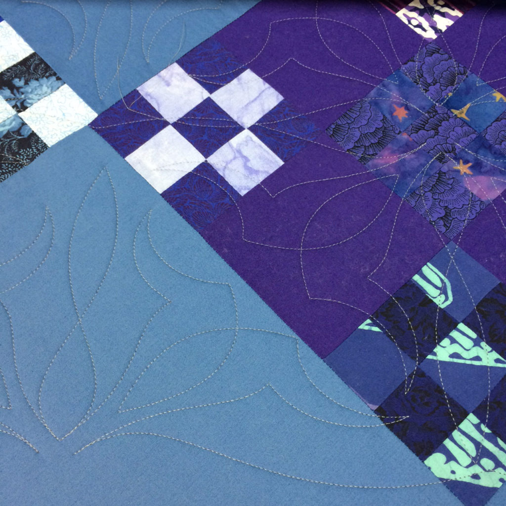 Just one example of uncentered quilting motifs.