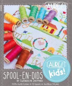 Gwendolyn's own thread collection with Aurifil, AurifilKids Spool-en-dids
