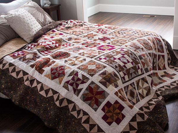 Batik quilts and fabrics - Batik Sampler Block of the Month