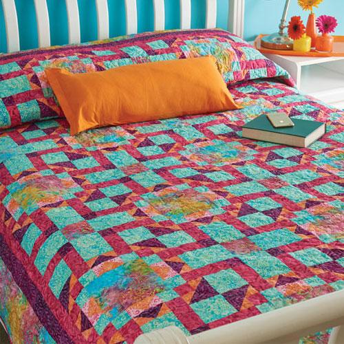 Batik Quilts and Fabric - Kanaloa Quilt Kit