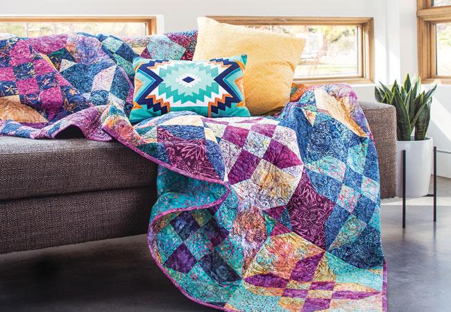 Batik Quilts and Fabrics - Batik Quilt Patterns