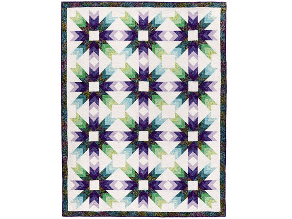 Batik Quilts and Fabrics - Prism Stars Quilt Kit