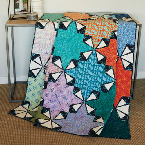 Batik Quilts and Fabrics - Sprockets Quilt Kit