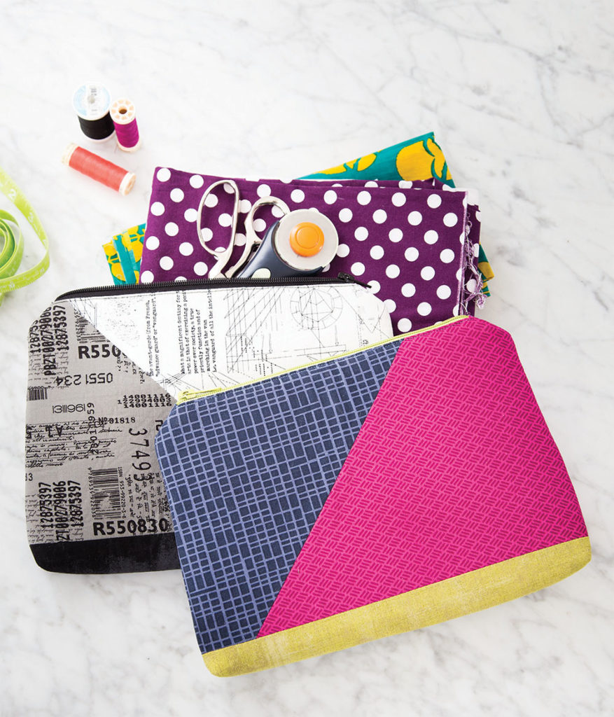 Angled Clutch Quilted Project by Gosia Pawlowska