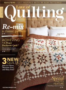 Love of Quilting July/August 2018 issue cover