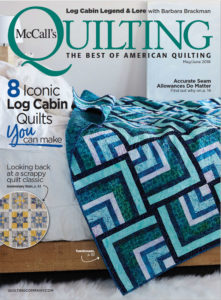 McCall's Quilting May/June 2018 magazine