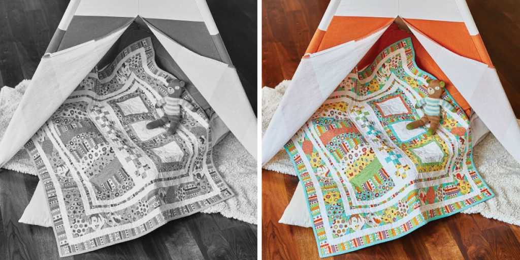 New Arrival Baby Boy Quilt Pattern Idea #2