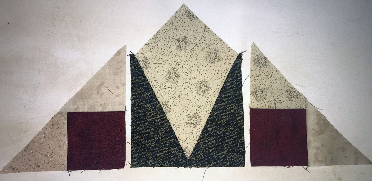 Mystery Quilt Clue 5 - Kite Triangle Unit