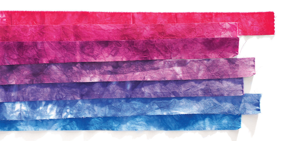 Hand-dyed fabric by Candy Glendening
