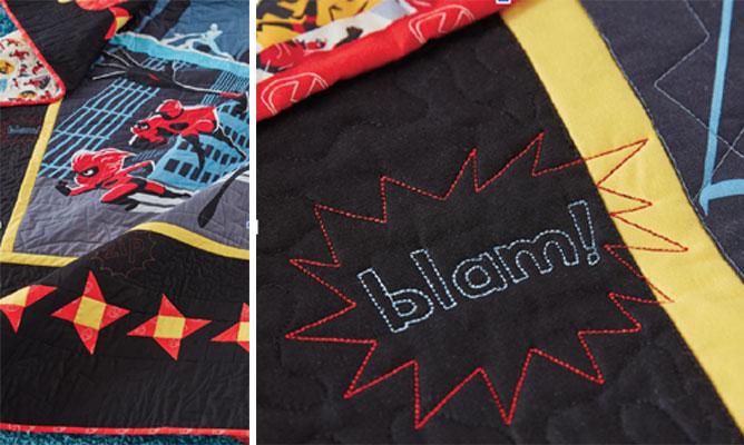 Super Power Burst embroidery collection, CME exclusive, Zip, Go, Pop, Pow, Blam!: shopsewitall.com