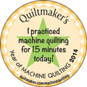 I practiced machine quilting for 15 min today